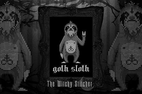 Goth Sloth ~ PDF Pattern