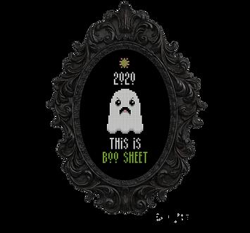 2020 Boo Sheet Ghost - transparent black