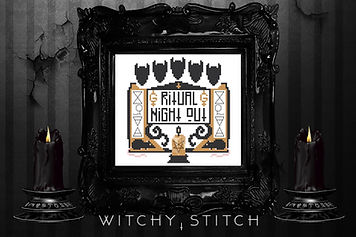 Ghost custom cross stitch - The Witchy S