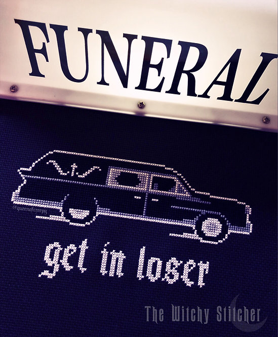 Get In Loser ~ Hearse ~ PDF Pattern