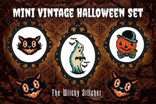 Mini Vintage Halloween Trio ~ PDF Patterns