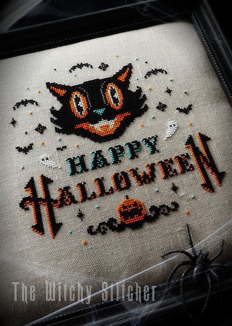 Vintage Happy Halloween ~ PDF Pattern