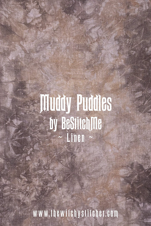 Muddy Puddles 28 ct Linen - Hand Dyed Fabric