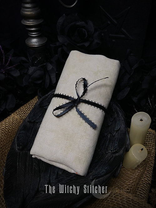 Vellum 28 ct Cashel Linen - Hand Dyed Fabric