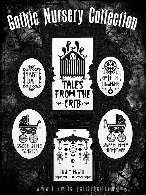 Gothic Nursery Collection ~ PDF Pattern