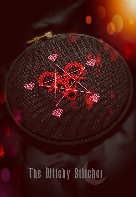 Baphomet Valentine ~ PDF Pattern