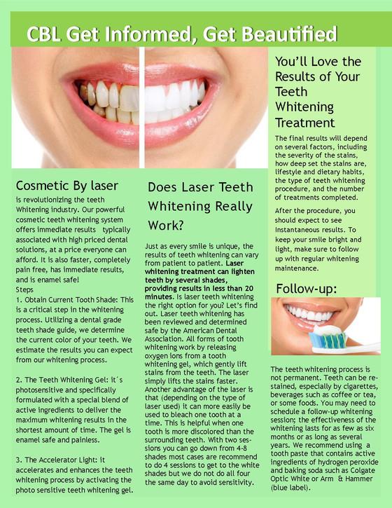 CBL Newsletter Teeth Whitening