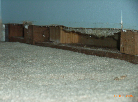 Removable skirting board (removed)
