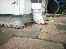Exposed concrete slab edge