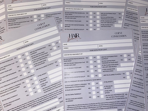 A4 Double Sided Consultation Forms