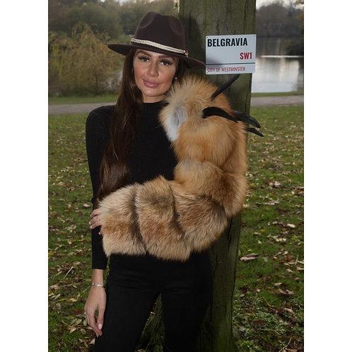 """BELGRAVIA"" Fox Fur Sleeve"