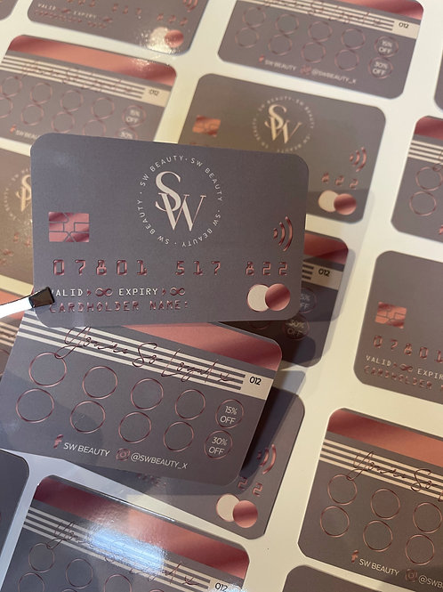 Glossy Credit Card Style Cards