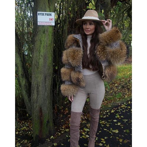 """HYDE PARK"" Raccoon Fur Coat"