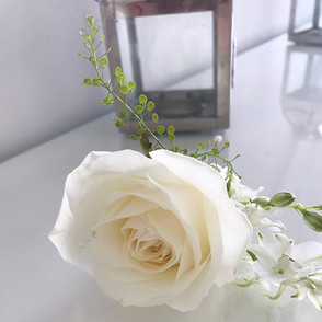 Pretty buttonhole for a groom today.jpg