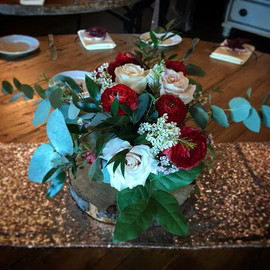 A gorgeous centrepiece for Emma and Carl