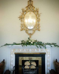 Beautiful fireplace at Linden Hall for D