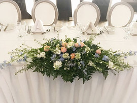 Lovely springtime top table decor at the