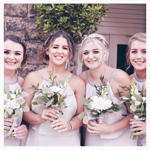 Alex and Conor's beautiful bridesmaids a