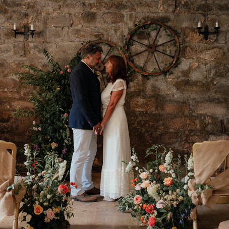 A Rustic Yet Pretty Styled Shoot at Danby Castle North Yorkshire