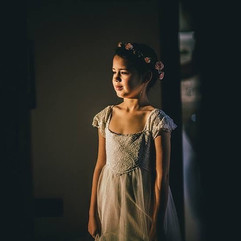 Absolutely beautiful flower girl in her