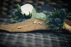 Gorgeous thistle buttonholes captured be