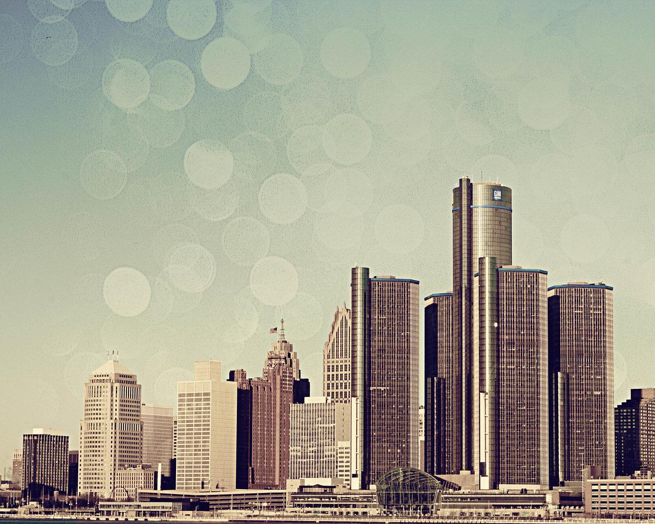 Detroit Skyline - Color