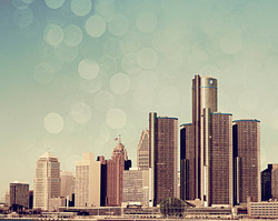 Detroit Skyline - Color