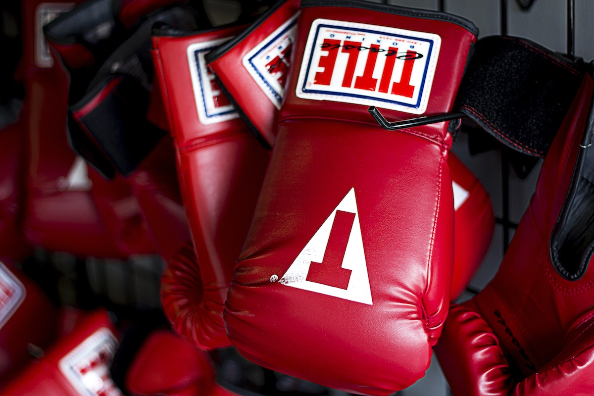 Red Title Boxing Gloves