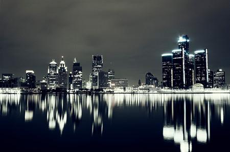 Detroit Night Skyline