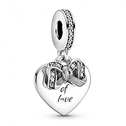 Charm Pendant Nœud & Cœur d'Amour 799221C01