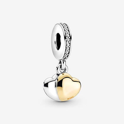 Pandora Charm Pendant Cœur Double Bicolore 799162C01