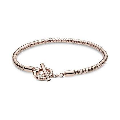 Bracelet Maille Serpent Fermoir Lasso en T Pandora Moments 589087