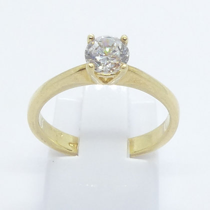 Bague Or 18 Cts Solitaire Zircon