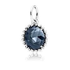 Pandora Shining Midnight Crystal Pendant 390361NBC