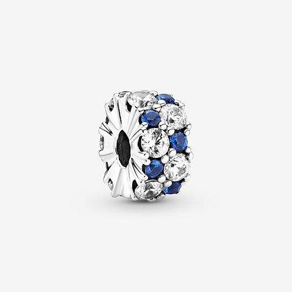 Pandora Charm Clip Scintillant Incolore & Bleu 799171C01