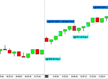 Resultados dos últimos 6 meses de trading
