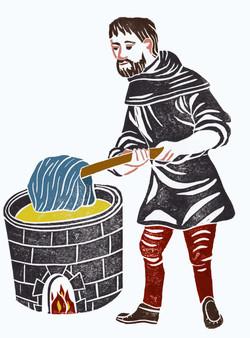 Dyeing man