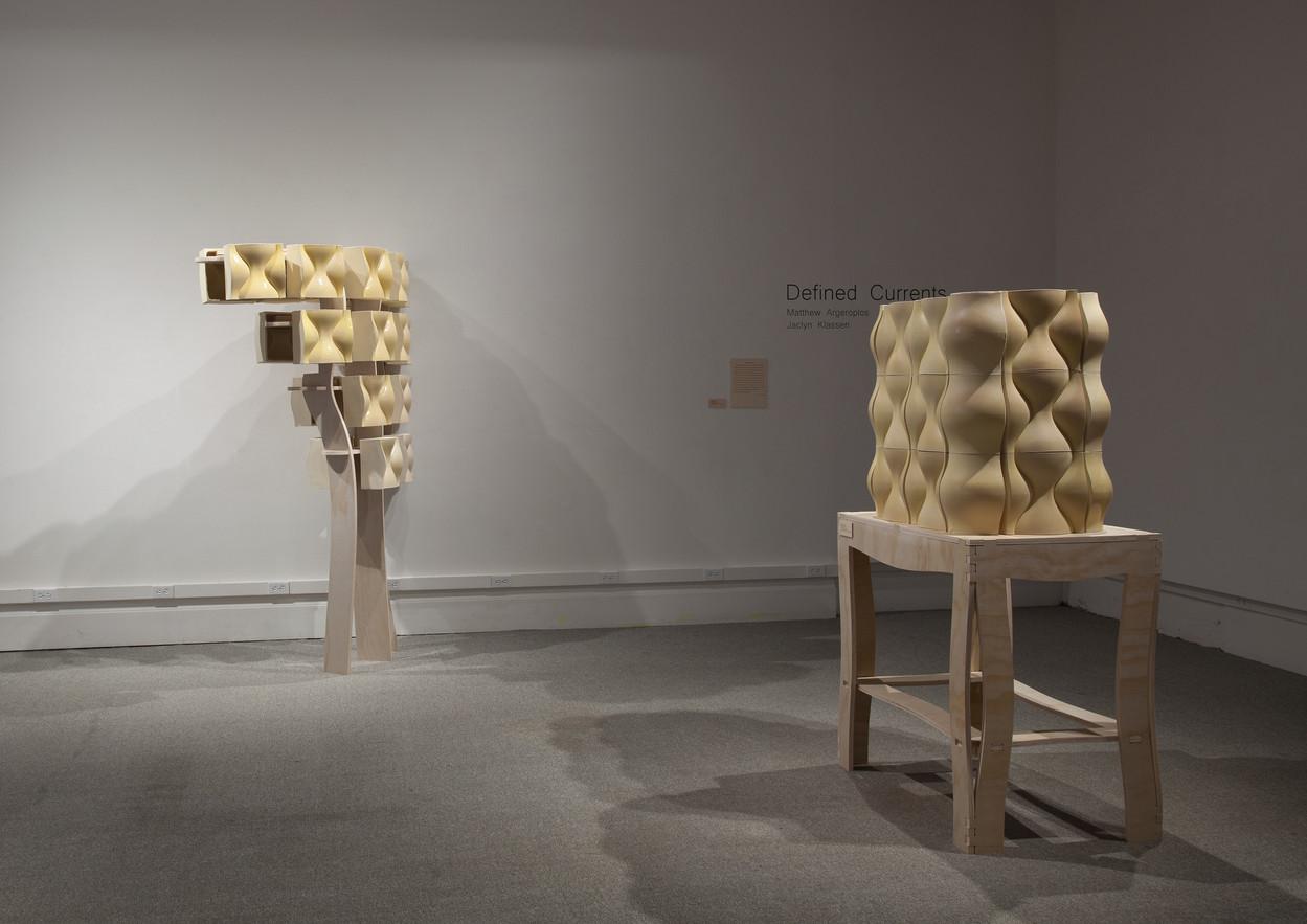 Windward, Deposition, 2017, ceramic and wood