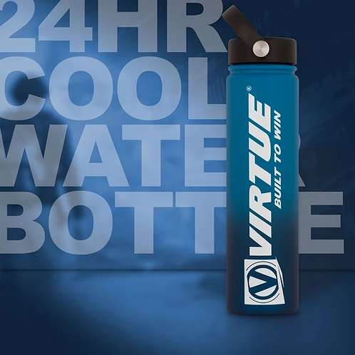 virtue 24hr cool water bottle 24oz (blue)