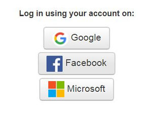Simple login with your social media account