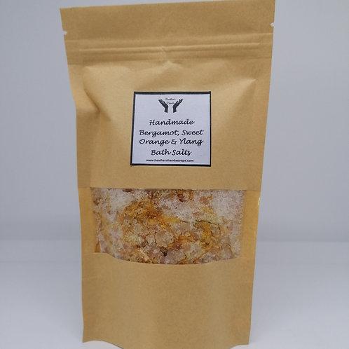 Bergamot, Sweet Orange and Ylang Bath Salts - Pouch