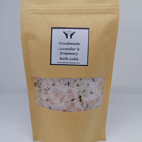Lavender and Rosemary Bath Salts - Pouch