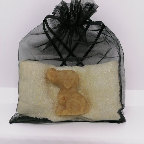 Tangerine & Apricot Dog Guest Soap Gift Set