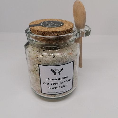 Tea Tree and Mint Bath Salts - Jar