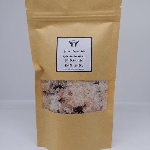 Geranium and Patchouli Bath Salts - Pouch