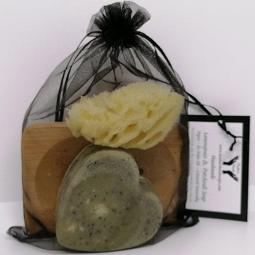 Lemongrass and Patchouli Heart Gift Set