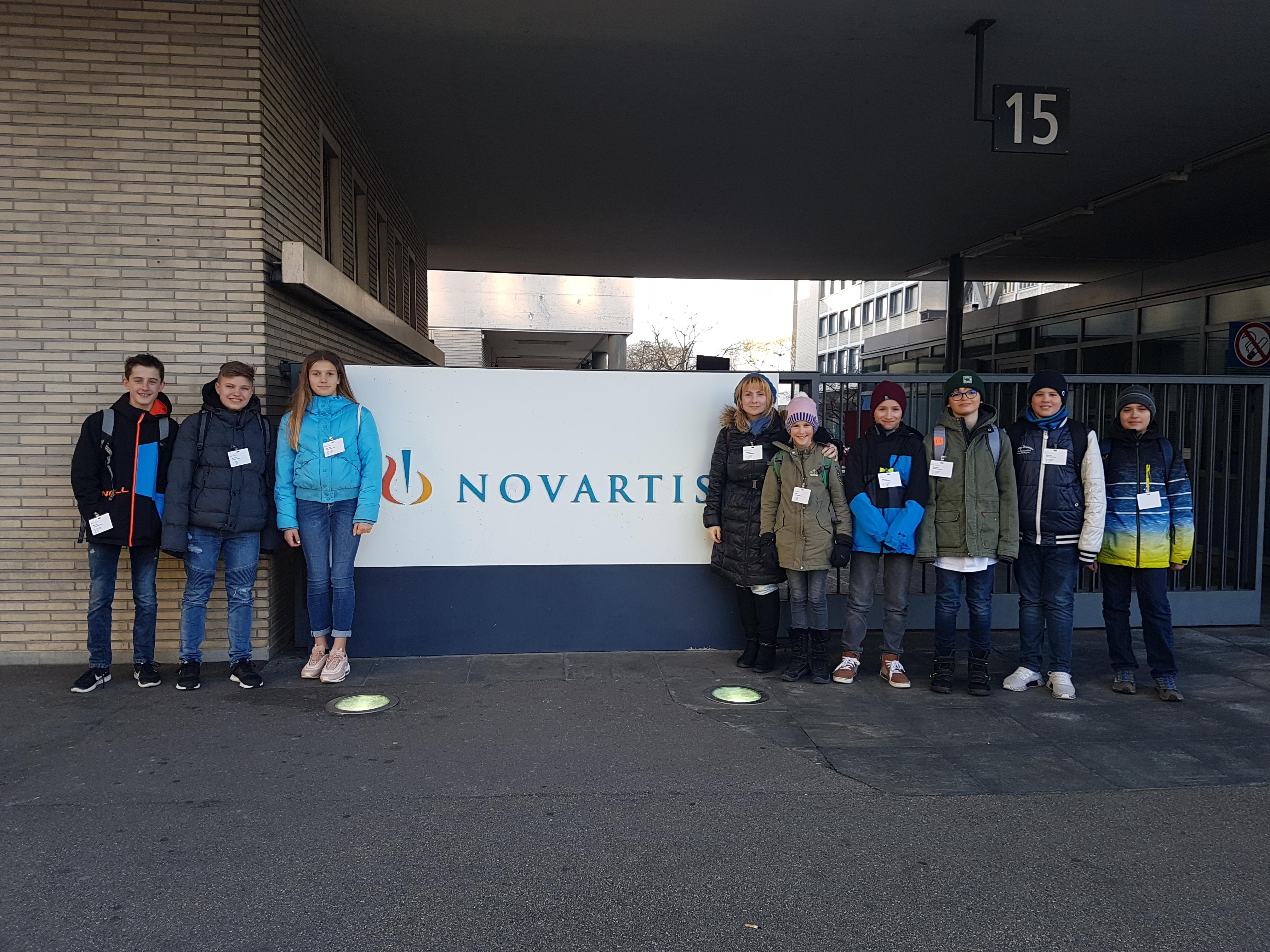 Brainteam in front of Novartis