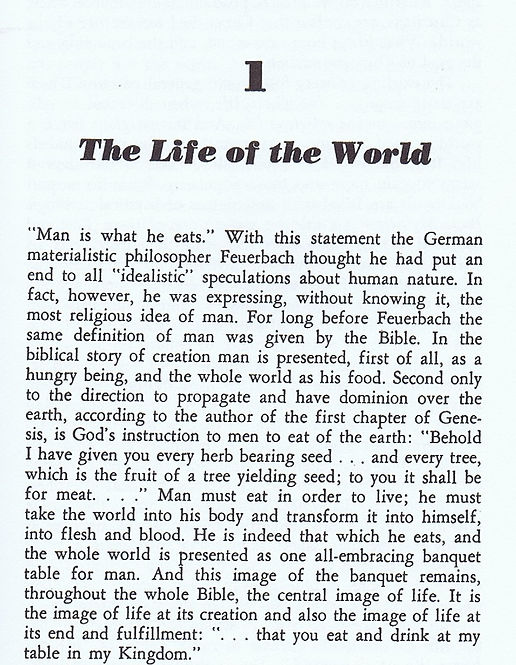 First page FOR THE LIFE OF THE WORLD SCH