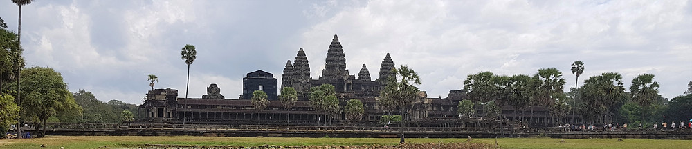 Angkor Wat, panorama, Kambodża, podróże
