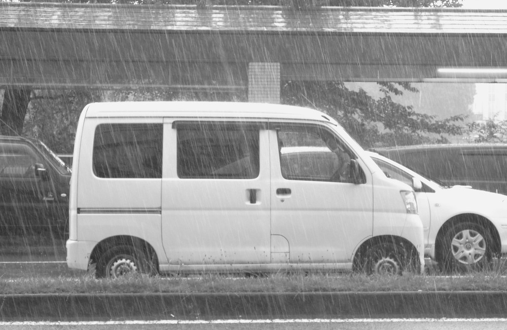 Kyoto, ulewa, deszcz, Japonia